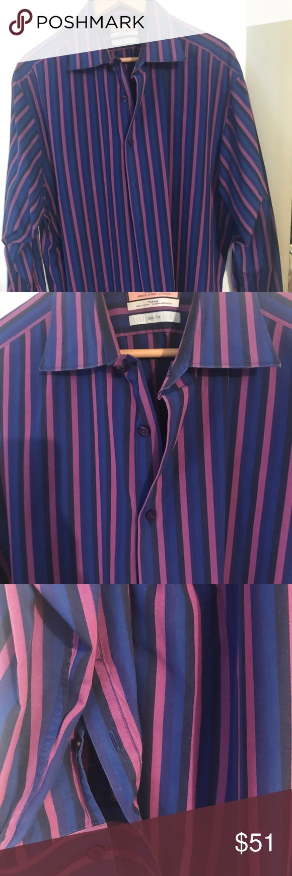 Pink Thomas Pink London striped slim fit dresshirt Excellent condition dry cleaned PINK Shirts Dress Shirts