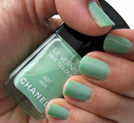 I've been hunting for the perfect jade polish for years! Check out this Chanel Jade. #manimonday