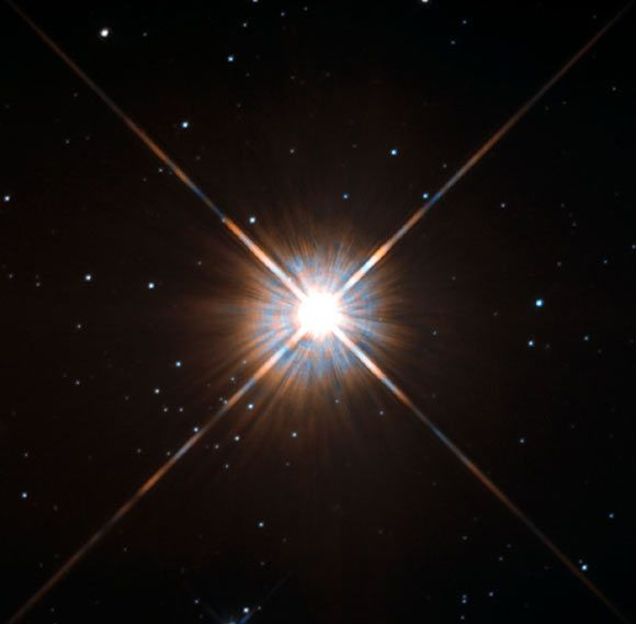 Proxima Centauri. Image credit: Hubble / ESA / NASA. Astronomers Find Evidence for 7-Year Stellar Cycle in Proxima Centauri