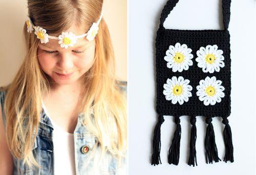 Haak in op de madeliefjes-trend! Haak zelf een hippe flowerstring en maak zo'n handig festivaltasje. Kijk voor gratis werkbeschrijving op CraftKitchen.nl