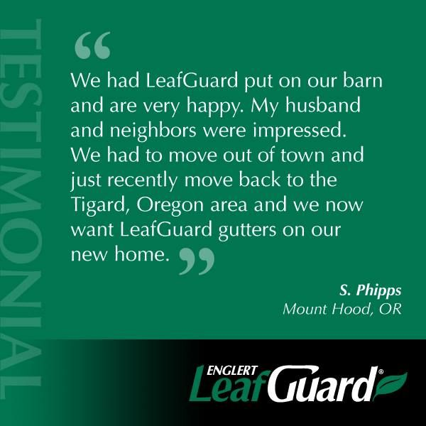 LeafGuard Seamless Gutters Work Well On Any Roof Even Barn