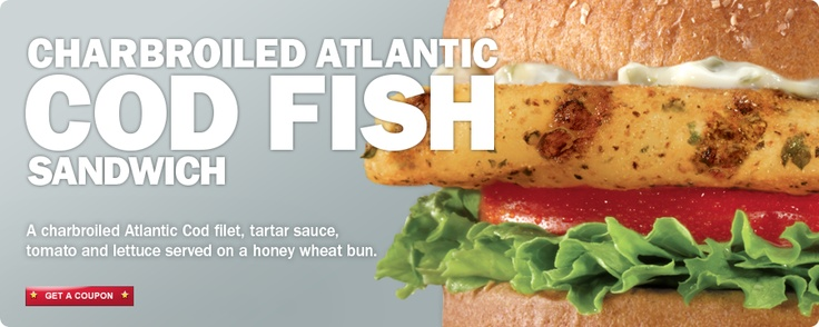 Charbroiled Atlantic Cod Sandwich