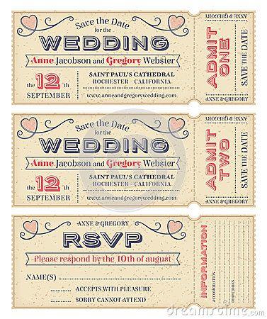 La boda del vector invita a boletos