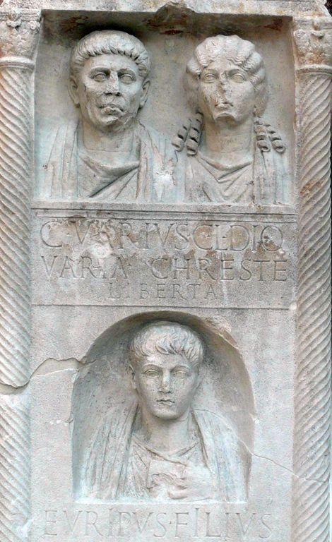 Stele funeraria dei Varii (dettaglio)