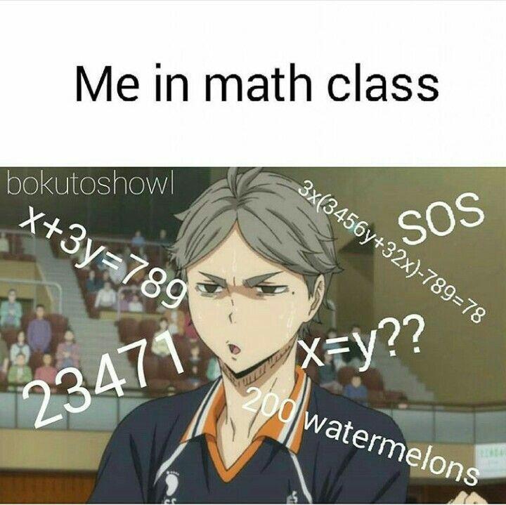 Math class #haikyuu #suga #setter