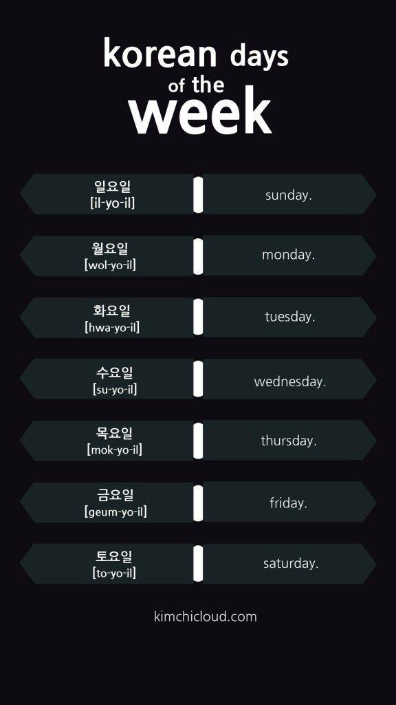 Dias da semana em coreano