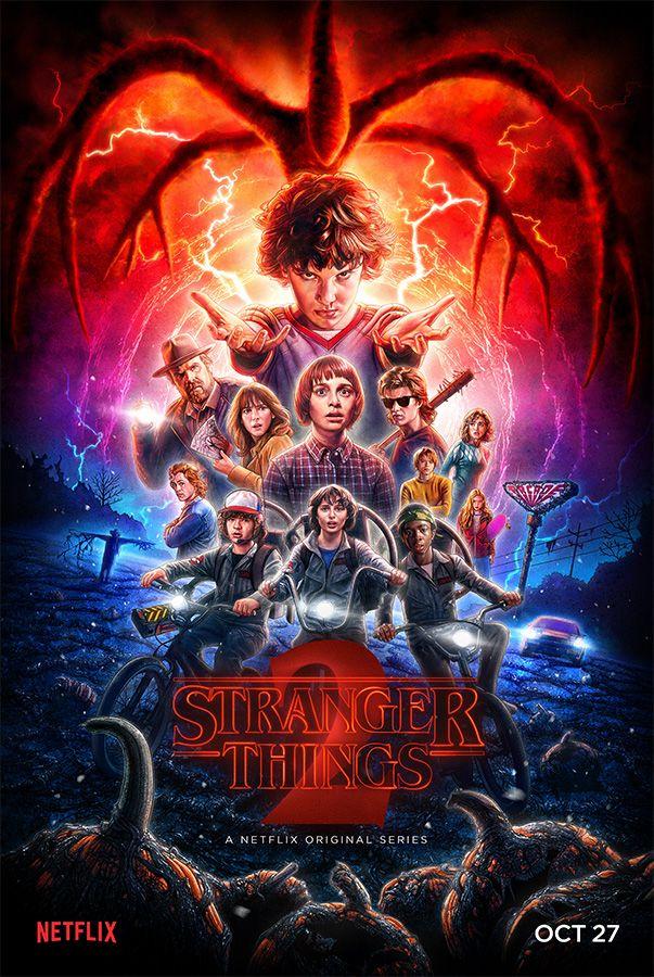 Stranger Things Season 2 Official Poster - art by Kyle Lambert