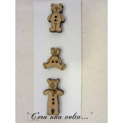 Set 3 Bottoni in legno bears http://www.merceriaceraunavolta.it/24-creative-crafs#/