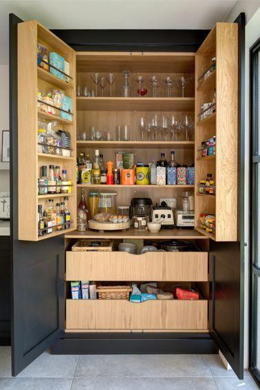 Best Wooden Pantry In Dark Grey Matt Lacquer Roundhouse Kitchen 400 x 300