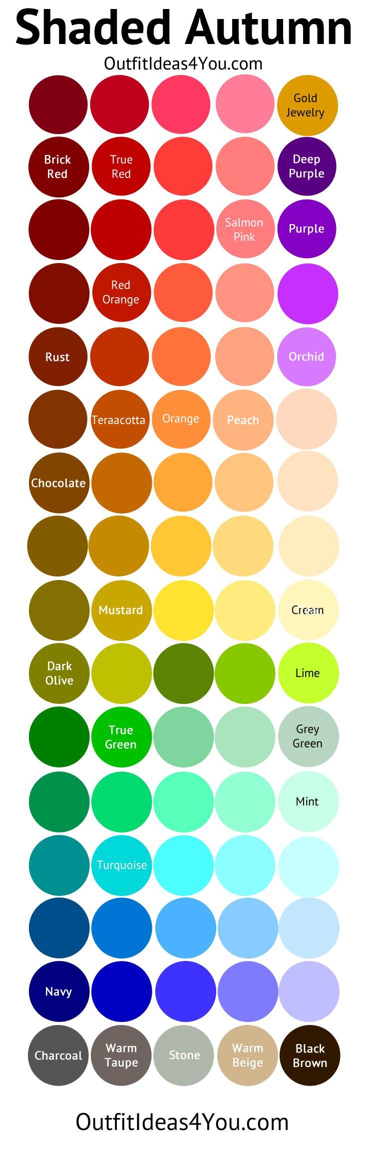 Me? Deep Autumn Color Palette (Shaded Autumn)
