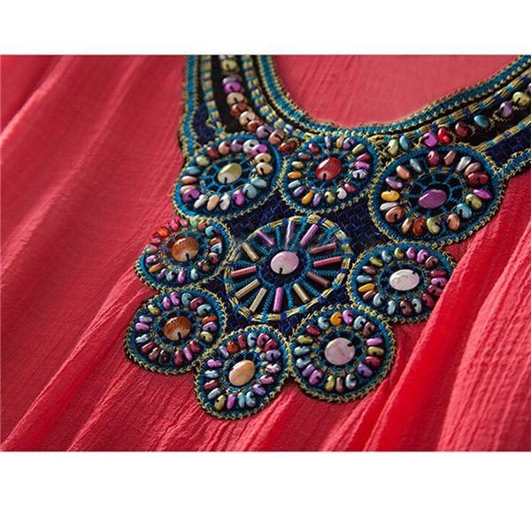 Негабаритных Вышивка Блузка Рубашки Новое Прибытие Летние Блузки Плюс Размер Случайные Свободные Рубашки Blusas Femininas KH667075 купить на AliExpress