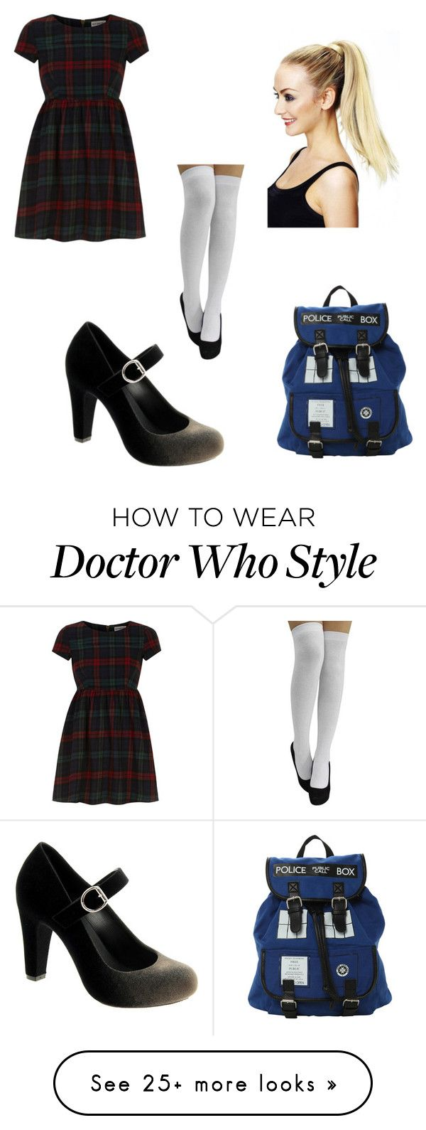 """School Girl"" by beckybedford on Polyvore featuring Dorothy Perkins, Melissa and Hot Topic"