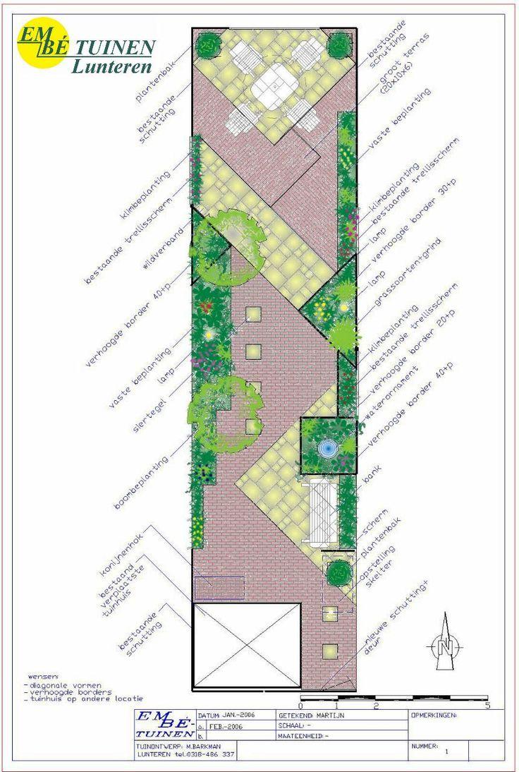 20 beste idee n over kleine tuin ontwerpen op pinterest for Tuinontwerp schuine lijnen