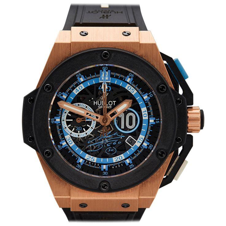 Hublot Rose Gold Ceramic Big Bang King Power Maradona Limited Edition Wristwatch For Sale at 1stdibs