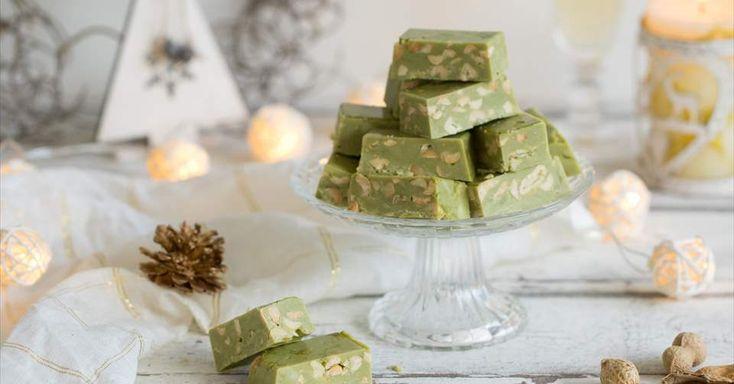 Turrón de té matcha, leche condesada y cacahuetes - Receta Nestlé Cocina