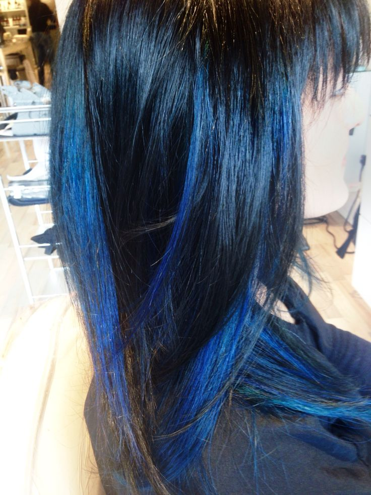 true Blue hair on natural Black  #Hair #Haircare #Hairstyles #HairColour #HairColor #Ombre #Sombre #Balayage #Blonde #Red #Copper #HairStylist #Colourist #Makeover #Hairgoals #PaiShau