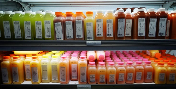 New York, juice, dean and deluca