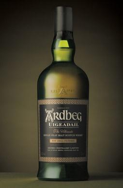 Ardbeg, single malt Islay whisky. Owned by LVMH (Moet Hennessy Louis Vuitton)