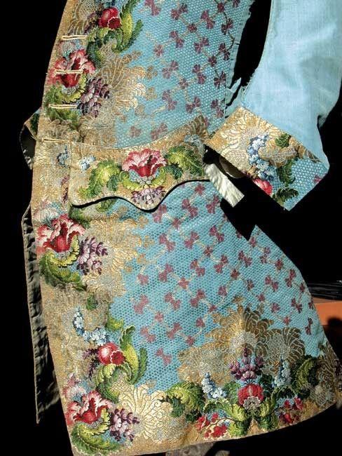 Men's emboidered jacket; 18th century.