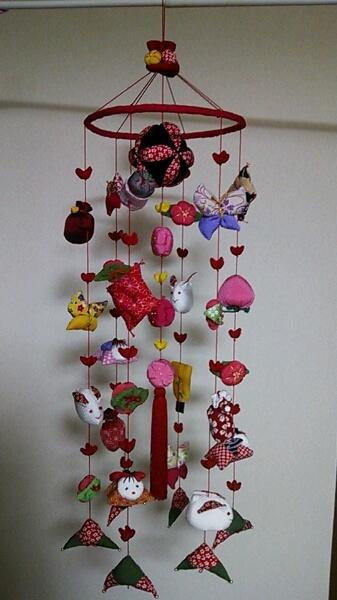 吊るし雛つるしびなハンドメイド手作り女の子即決 ¥10500円 〆02月26日