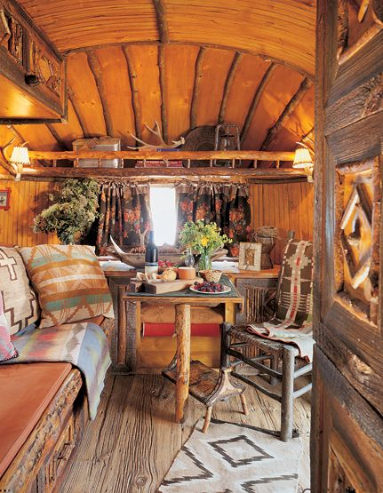 Ralph Lauren's Double RL Ranch Dream interior of airstream