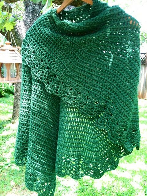 All Free Crochet : Crochet All Shawl: free pattern Crochet: Cowls, Shawls & Scarves ...