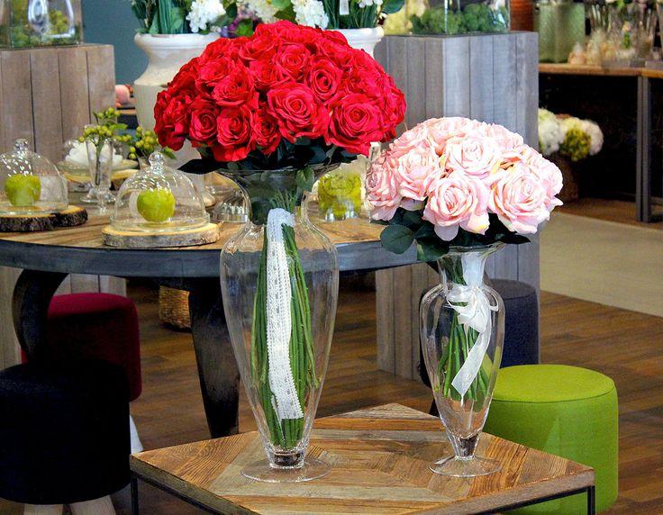 #Bouquet di #rose rosse e rosa da #Naturalmente.