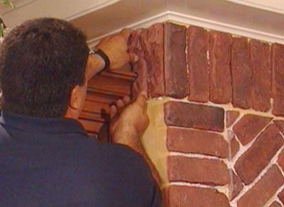 Adding thin brick to archway