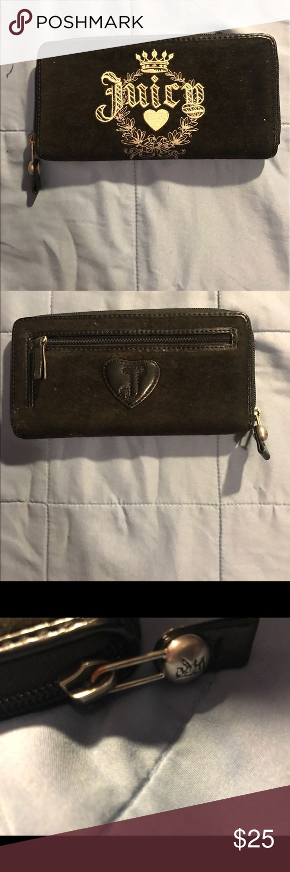 WOMENS JUICY COUTURE BLACK SUEDE WALLET 100% authentic Juicy Couture. MSRP $150. Any questions about this item pls comment. Juicy Couture Bags Wallets