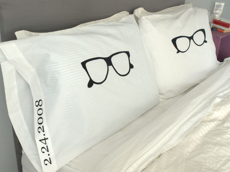 His and Hers Pillows Cool Pillow Cases Glasses Pillow Unique Pillow Case Set Love Pillow Cases & 32 best Couple Pillowcases images on Pinterest | Couple pillowcase ... pillowsntoast.com