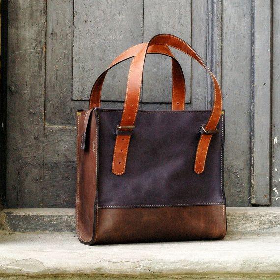 Handtasche Frau Leder Geldbörse Squer-Art-design von ladybuq
