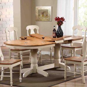 White Oval Farmhouse Table