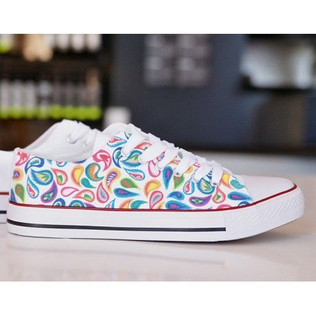FOLK CUTOUTS SNEAKERS. DESIGN YOUR OWN PRINT ON SNEAKERS AT WANNASHOE.COM