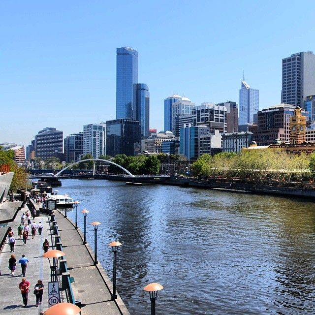 The banks of the Yarra