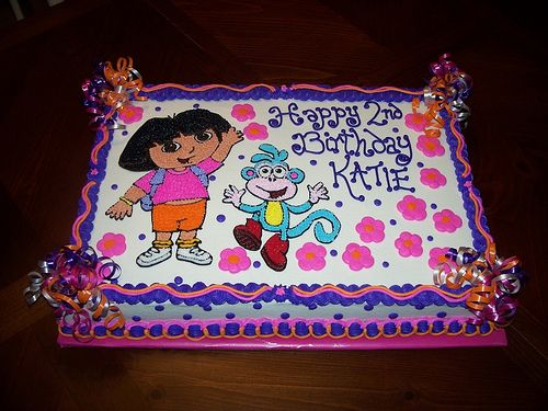 Must get this Dora cake for Molly's 3rd birthday!