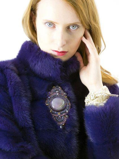 """Верхняя одежда ручной работы. Ярмарка Мастеров - ручная работа. Купить Шубка """"Фиолетовая норка с вышивкой"""". Handmade. Тёмно-фиолетовый"""