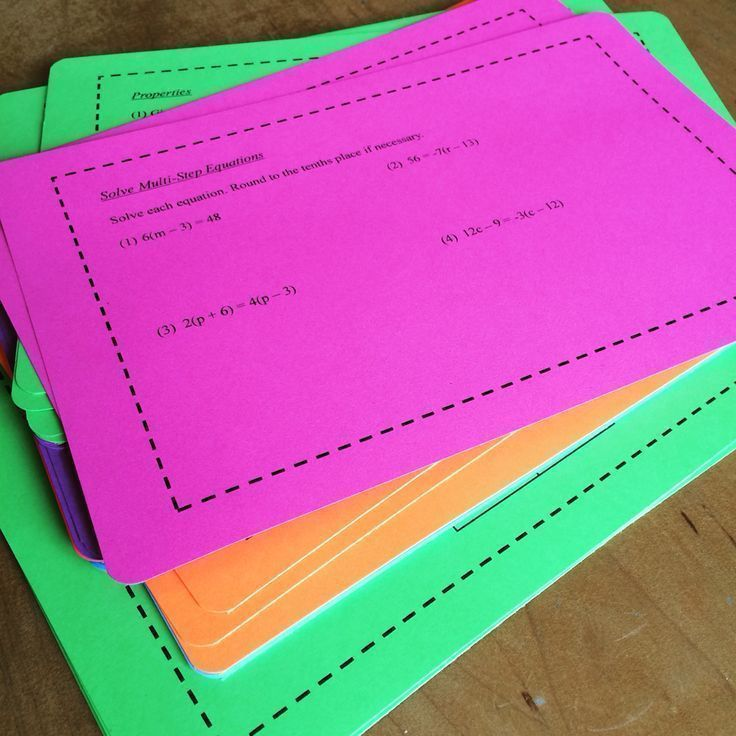 8th Grade Math Task Cards MultiStep Equations and