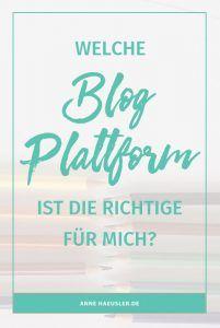Welche Blog-Plattform ist die RICHTIGE für dich? WordPress, Blogger order Squarespace? Ich habe sie für dich unter die Lupe genommen I www.annehaeusler.de