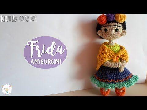 Frida Kahlo amigurimi parte I, CUERPO - YouTube