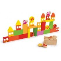 Gesellschaftsspiel Schieß den Vogel ab. Dieses Flip-Spiel lässt die Stadt erzittern. Mit einem Gummi-Zug-Katapult kann die Geschicklichkeit der ganzen Familie getestet werden. Mit den bunten Spielsteinen in verschiedenen Formen eine Mauer nach eigenem Belieben errichten und später mit dem Katapult gezielt umwerfen. Das Spiel fördert die Geschicklichkeit und bringt zusätzlich eine Menge Spaß! Klotz: ca. 7 x 3,5 x 1 cm; Abschussgerät: ca. 8 x 6 x 5 cm