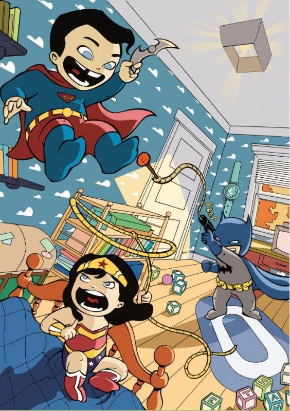 DC Trinity Babies by Elsa Charretier