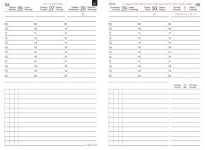 Wochenkalender-Wochenplaner CLASSIC für X47: Terminplaner und Organizer aus Leder