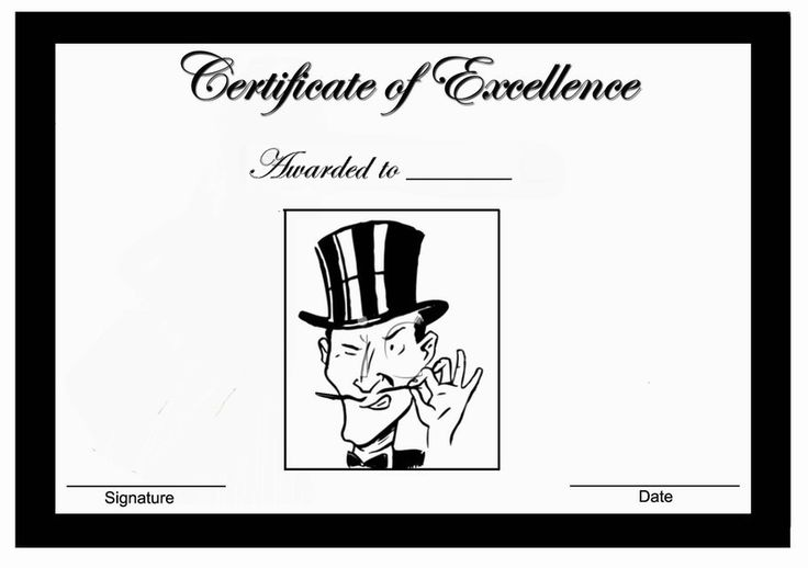 mustache themed award certificates