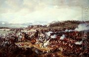 Cuirassiers Charging the Highlanders at the Battle of Waterl...  by Felix Philippoteaux