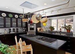black cabinets: Custom Kitchens, Kitchens Remodel, Kitchens Design, Beauty Kitchens, Black Cabinets, Black Kitchens, Kitchens Idea, Kitchens Cabinets, Hollywood Kitchens