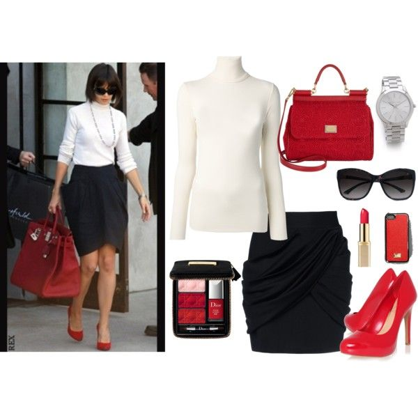"""Celebrity Business Chic- Katie"" by happybirddesign on Polyvore"