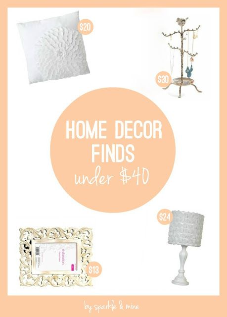 Decorate for Less! This post has some seriously chic furniture and accent pieces all for under $40! SO helpful! Good pin!!