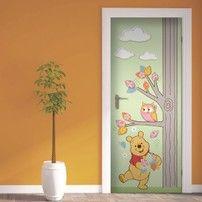 Adesivo per porte Winnie the Pooh