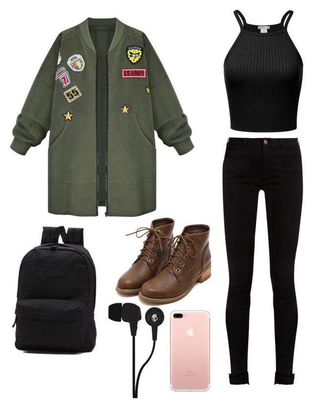 """school style"" by damlastyle ❤ liked on Polyvore featuring Gucci, WithChic, Vans and Skullcandy"