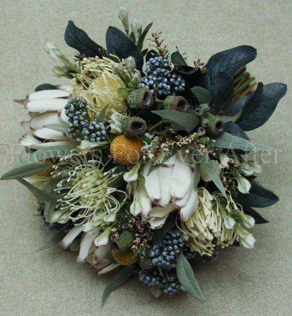 Australian Native - made with silk flowers.